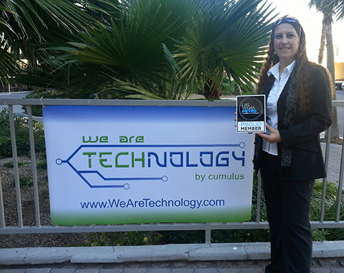 Oh hey!  Look it's me posing with the new Las Vegas Metro Chamber plaque and We Are Technology banner.